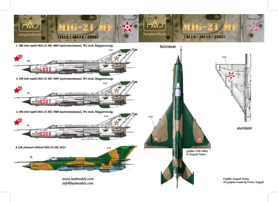HAD72113 HAD72113 Mig-21MF (Hungarian Air Force 9307, 9308