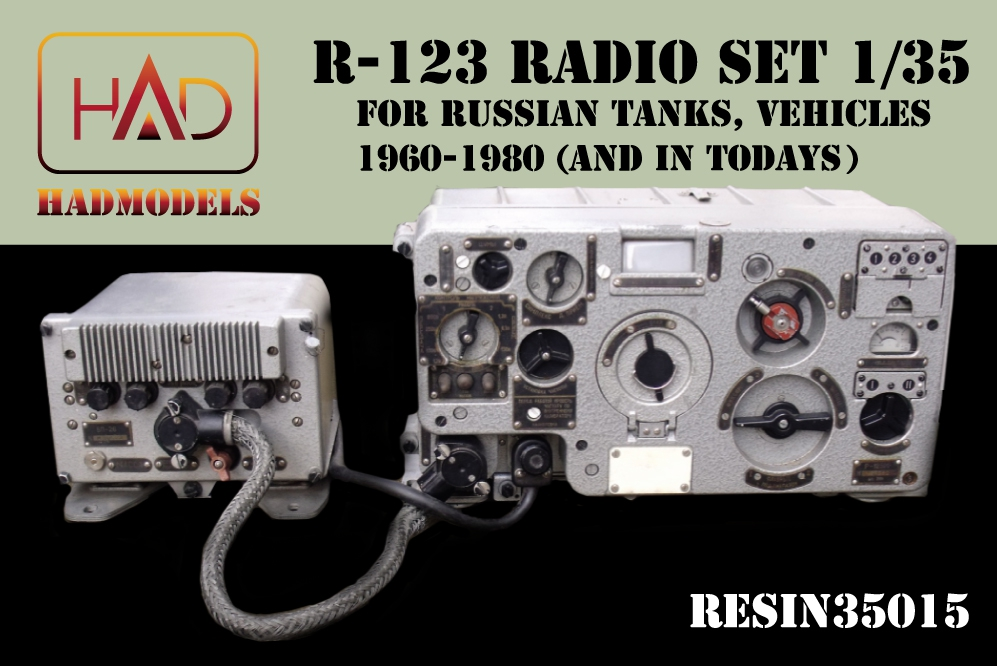 HADr35015 Radio set R- 123 for Russian tanks 70-80' years (with PE ...